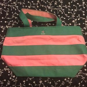 Pink and Green Rugby Ralph Lauren Canvas Bag